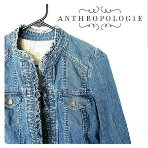 ⛺⛅Anthropologie: idra jean jacket